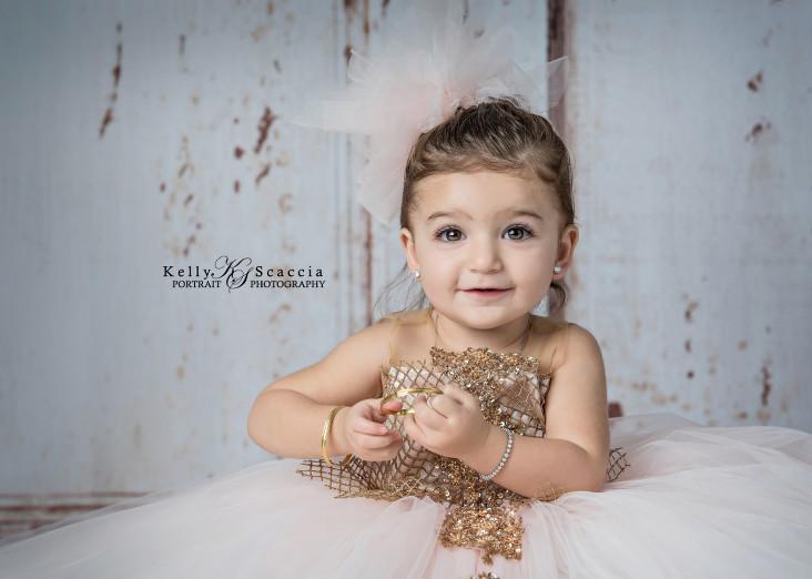 little girl studio portrait
